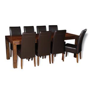 Dakota 220cm Dining Table & 8 Madrid Chairs (3 Colours)