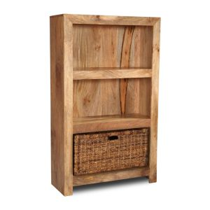 Light Medium Dakota Bookcase with Basket