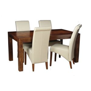 Dakota 160cm Dining Table & 4 Rollback Chairs