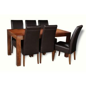 Dakota 160cm Dining Table & 6 Madrid Chairs