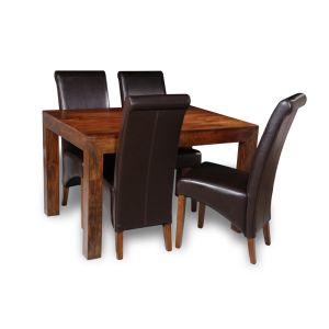 Dakota 120cm Dining Table & 4 Rollback Chairs