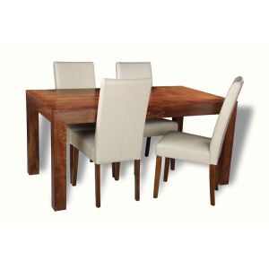 Dakota 160cm Dining Table & 4 Barcelona Chairs