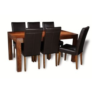 Dakota 160cm Dining Table & 6 Barcelona Chairs