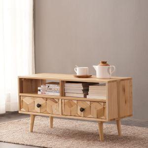 Light Boxwood 4 Drawer Coffee Table