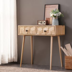 Light Boxwood Console Table