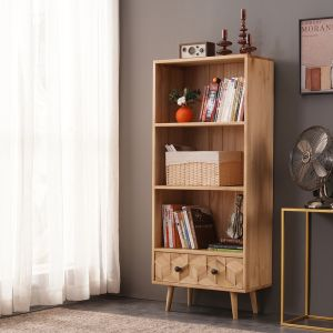 Light Boxwood Slim Bookcase