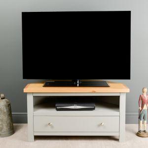 Greyton Painted Oak Corner TV Unit