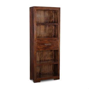 Mango Wood 1 Drawer Bookcase