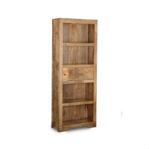 Light Mango Wood 1 Drawer Bookcase