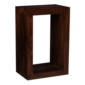 Mango Wood Rectangular Cube
