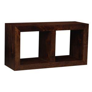 Mango Wood Double Storage Cube