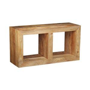 Light Mango Wood Double Storage Cube