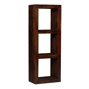 Mango Wood Triple Bookshelf