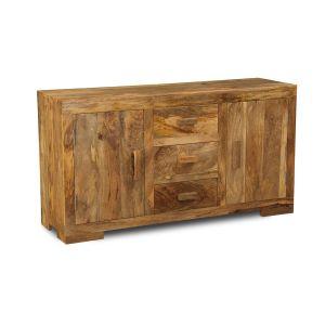 Light Mango Wood Wide Sideboard