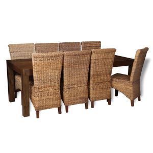 Mango 220cm Dining Table & 8 Havana Chairs