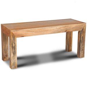 Light Mango Wood Medium Bench