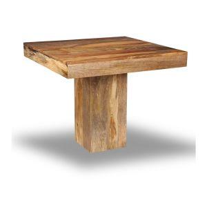 Light Mango Wood 90cm Cube Dining Table