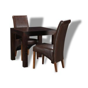 Mango 80cm Dining Table and 2 Rollback Dining Chairs