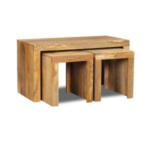 Light Mango Wood Side Tables