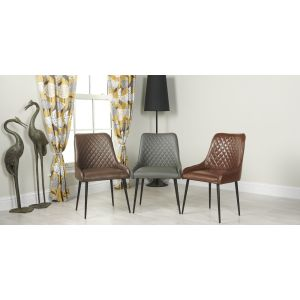 Set of 4 Henley Faux Leather Chairs