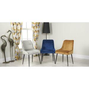 Set of 6 Henley Velvet Chairs