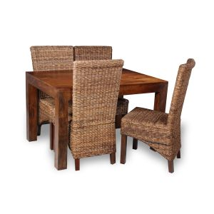 Dakota 120cm Dining Table & 4 Havana Chairs