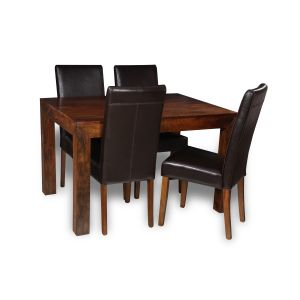 Dakota Dining Table & 4 Barcelona Chairs