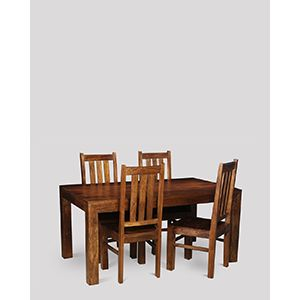 Dakota 160cm Dining Table & 4 Dakota Chairs
