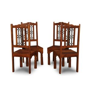 Set of 4 Jali Dining Chairs