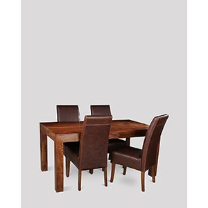Dakota 160cm Dining Table & 4 Madrid Chairs