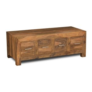 Cube Natural 4 Drawer Coffee Table