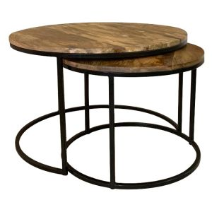 Industrial Side Tables Round