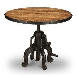 Industrial Large Iron Crank Table