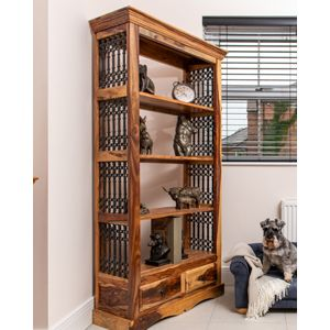 Jali Light 2 Drawer Bookcase