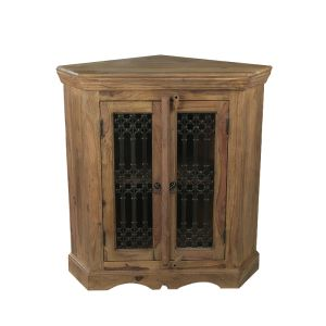 Jali Natural 2 Door Cabinet