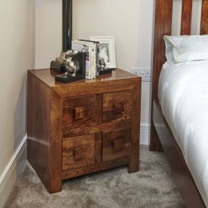 Dakota 4 Drawer Bedside Unit