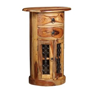 Jali Light Drum Cabinet