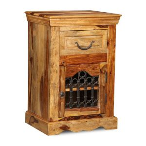 Jali Light Cabinet with Drawer