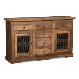 Jali Natural 2 Door Large Sideboard