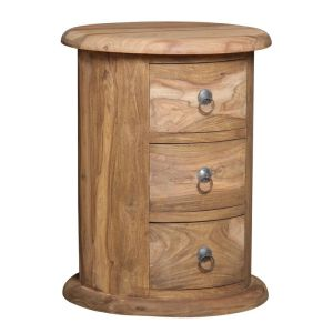 Jali Natural 3 Drawer Drum
