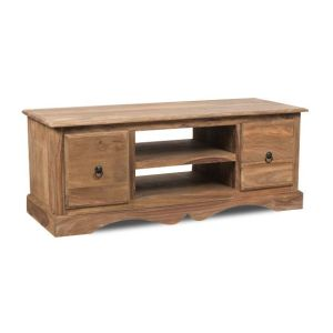 Natural Medium Jali TV Cabinet