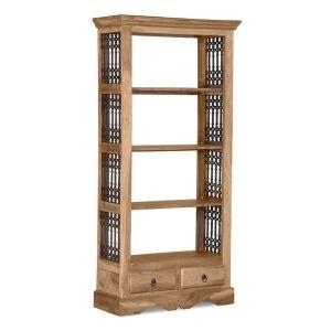 Jali Natural 2 Drawer Bookcase