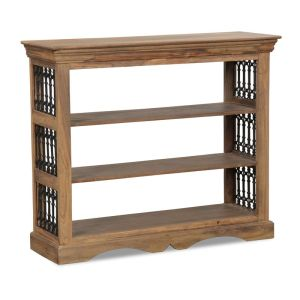 Jali Natural Low Bookcase