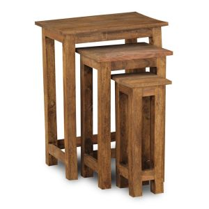 Jali Natural Tall Nest of Tables