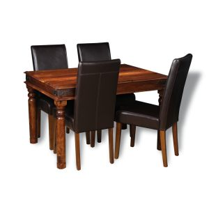 Small Jali Dining Table & 4 Barcelona Chairs
