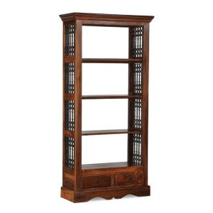 Jali 2 Drawer Bookcase