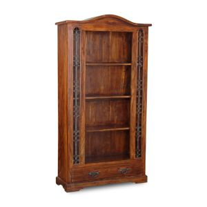 Jali Side 1 Drawer Bookcase