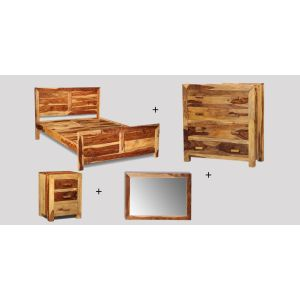 Small King Size Light Cuba Bedroom Package