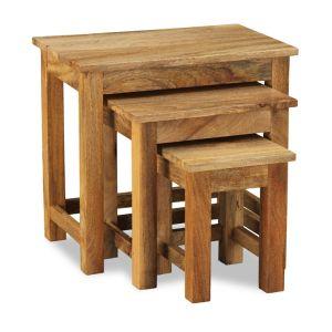 Light Mango Wood Nest of Tables