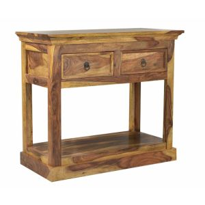 Light Sheesham Console Table